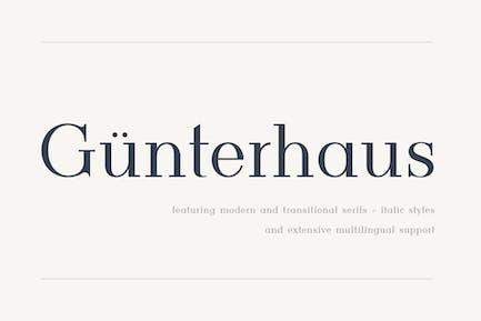 Gunterhaus - Modern & Transitional Serif