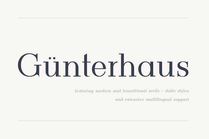 Thumbnail for Gunterhaus - Moderno y Transicional Con serifa