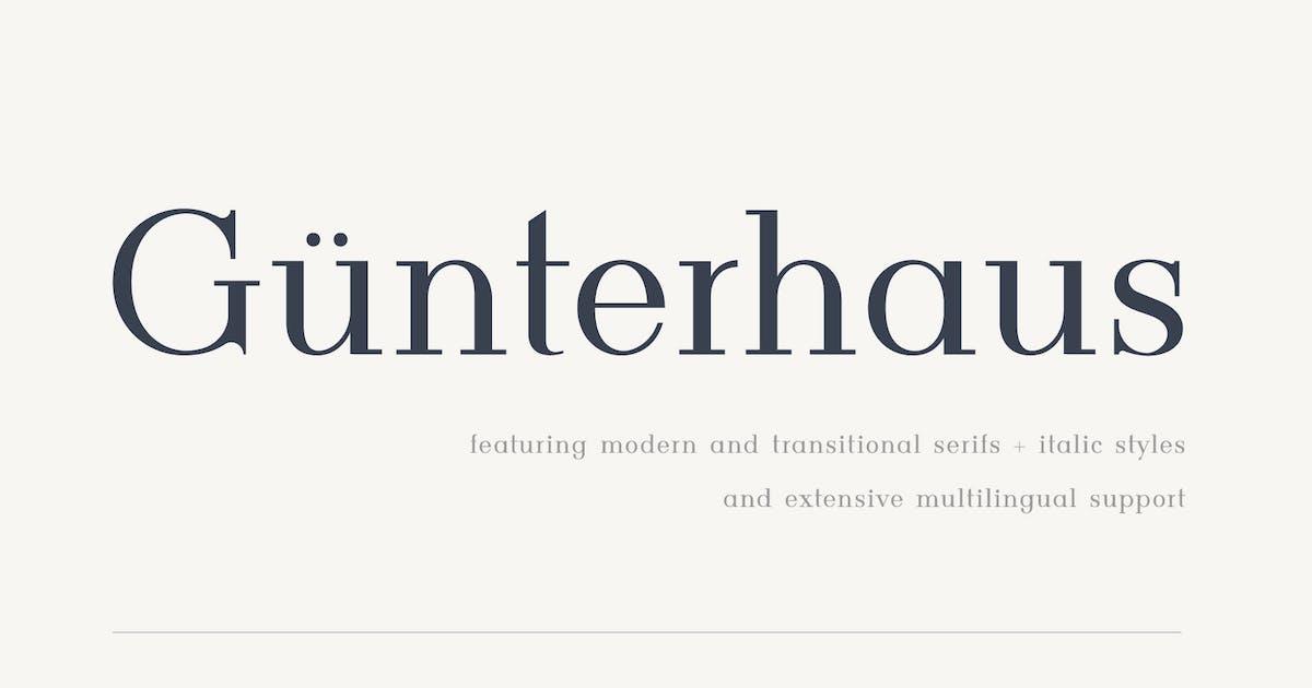 Download Gunterhaus - Modern & Transitional Serif by alienvalley