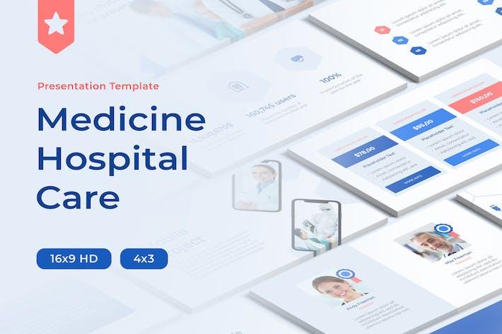 Medicine Hospital Care PowerPoint Template