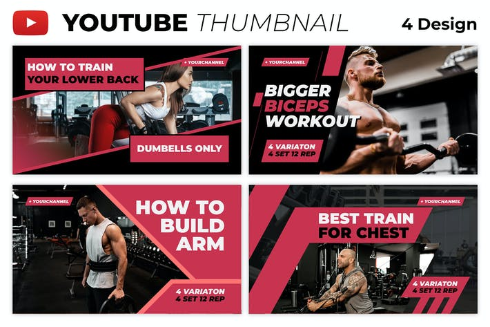 Gym Tutorial Youtube Thumbnail Template