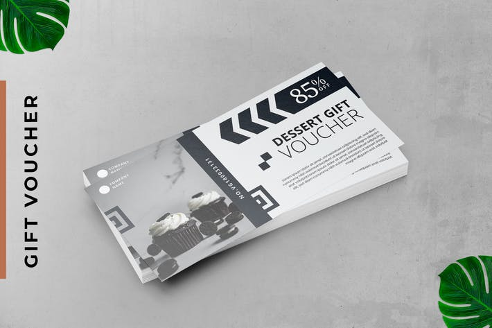 Pastry Gift Voucher Card Promotion