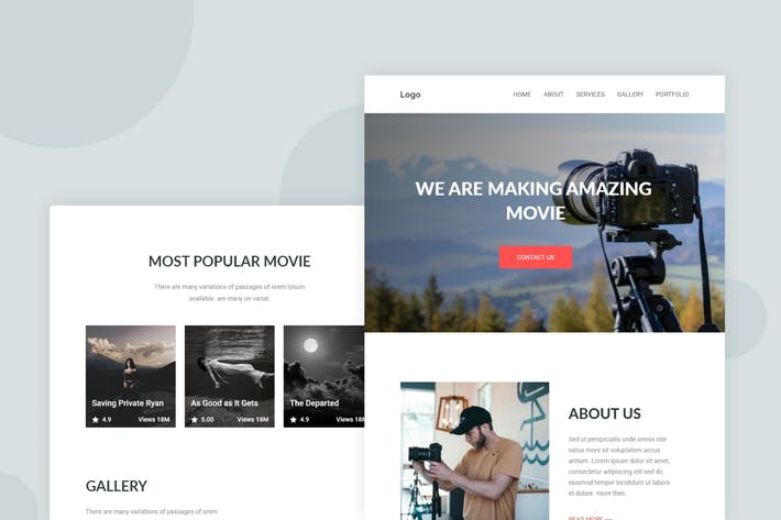 Thumbnail for Movie Studios and Filmmakers - Email Newsletter