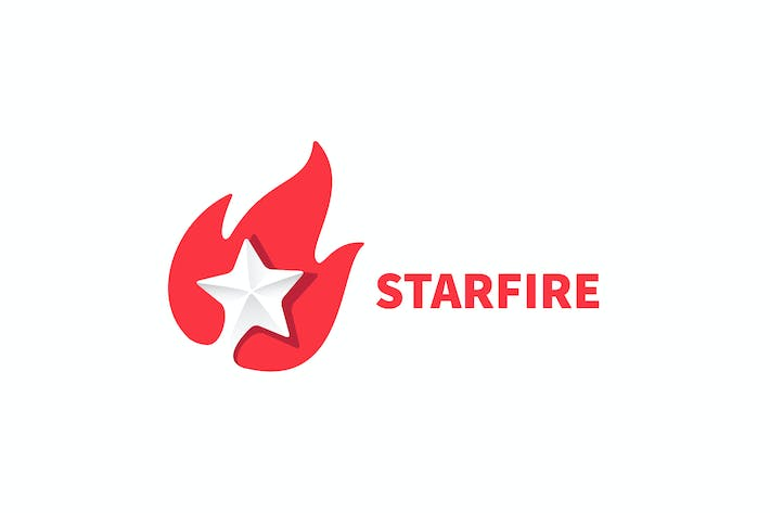 Cover Image For Starfire - Negative Space Fire & Star Logo