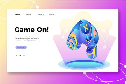 Game On - Banner & Landing Page