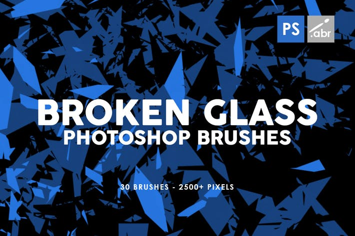 Thumbnail for 30 Broken Glass Photoshop Stamp Brushes Vol. 1