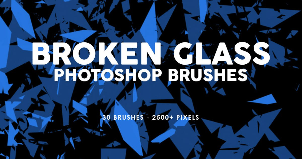 30 Broken Glass Photoshop Stamp Brushes Vol. 1 by M-e-f