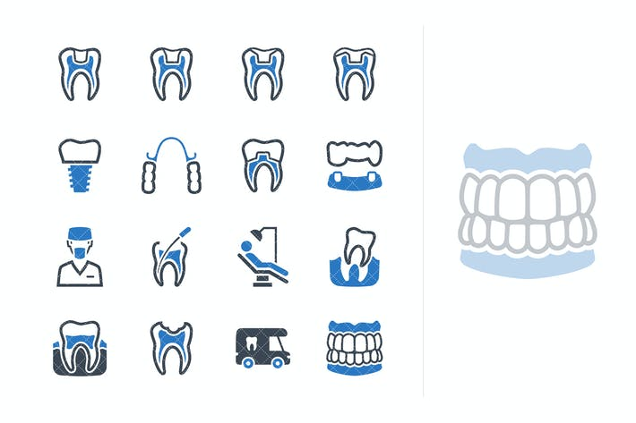Thumbnail for Restorative Dentistry Icons - Blue Series