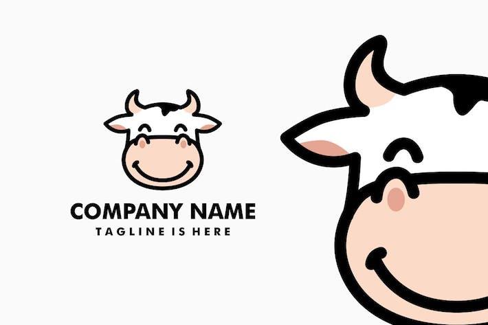 Thumbnail for Cow Head Cartoon Logo