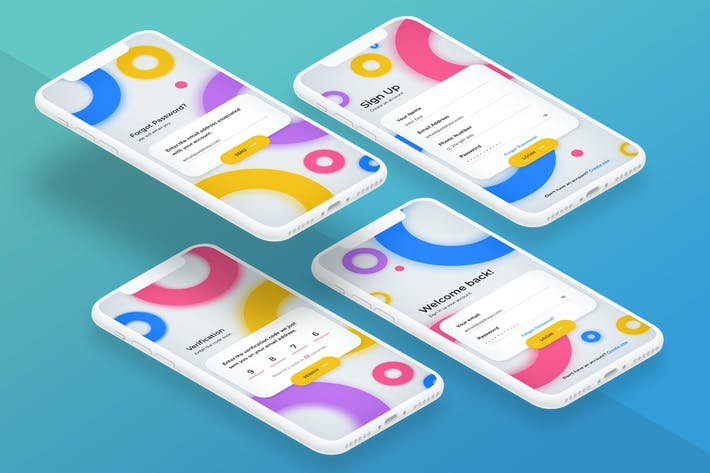 Thumbnail for Registration App Screen - Mobile UI Kits 02