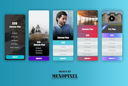Business Pricing Table For Website PSD Template