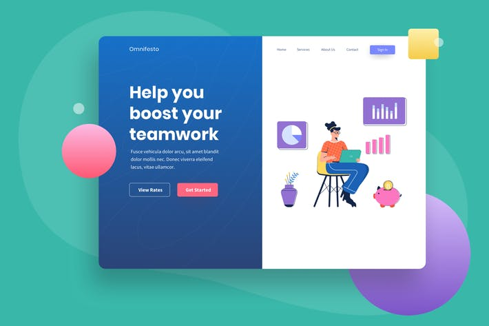 Financial Investment Landing page Illustration