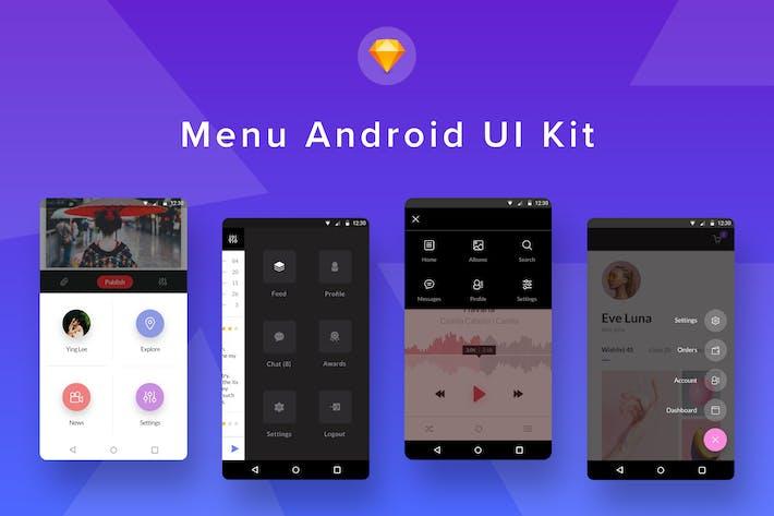 Thumbnail for Menu Android UI Kit (Sketch)