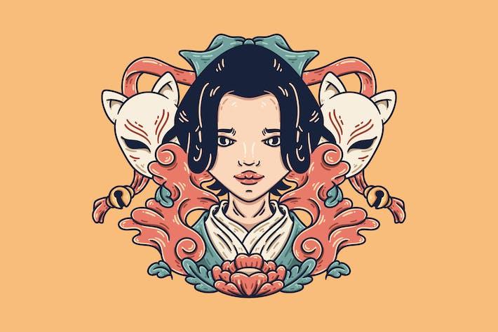 Thumbnail for Geisha And Kitsune