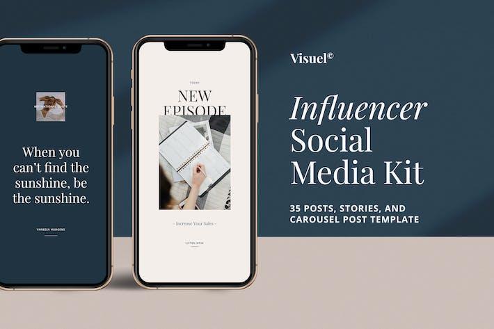Thumbnail for Influencer Social Media Kit v.1