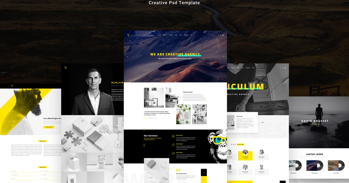 Download Reticulum - Creative Psd Template by AlitStudio