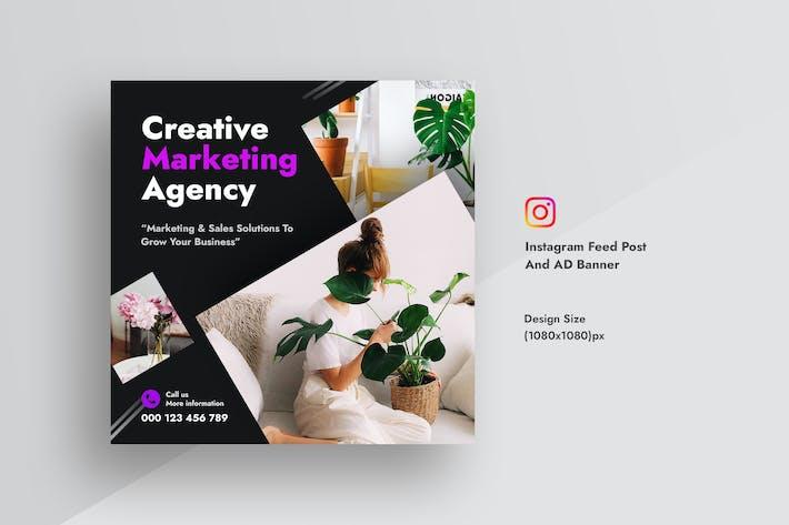 Kreativagentur Instagram Feed Post & Werbebanner