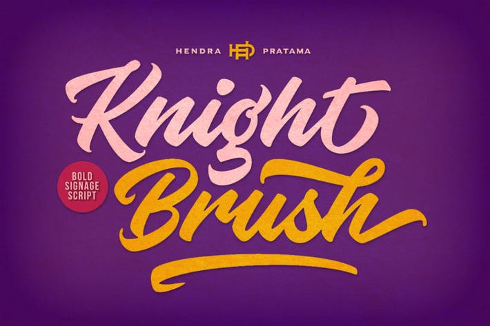 Thumbnail for Knight Brush Font