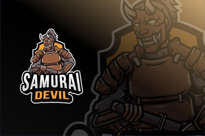 Thumbnail for Samurai Devil Logo Template