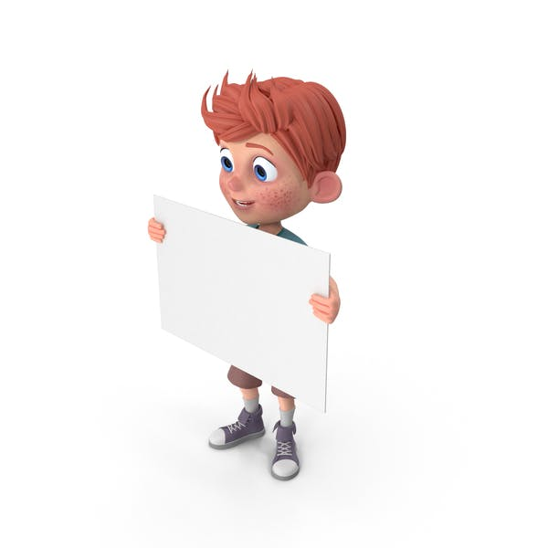 Cartoon Boy Charlie Sign
