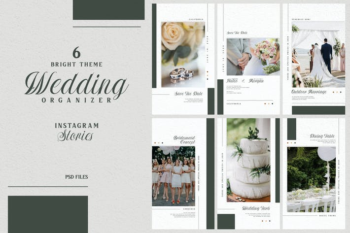 Thumbnail for Bright Theme - Wedding Organizer Instagram Stories