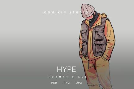 Hype Illustration