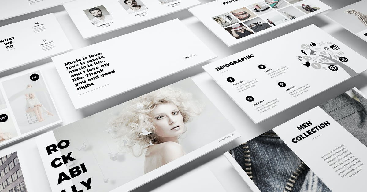 Fashion Powerpoint Template by Unknow