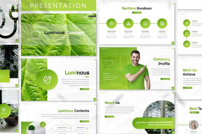 Thumbnail for Luminous - зеленая энергия Шаблон