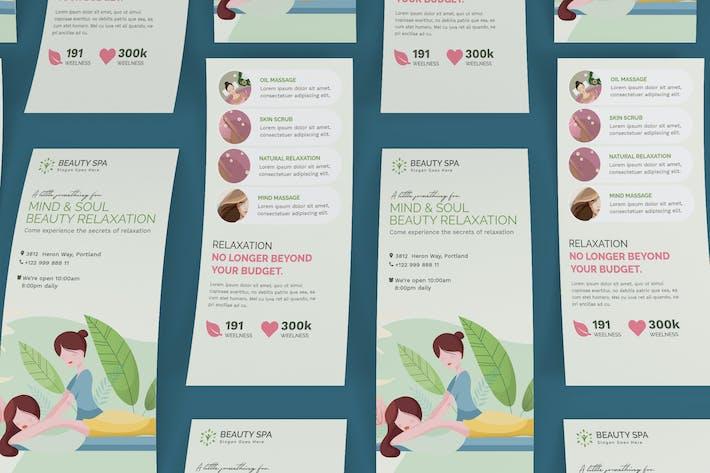 Thumbnail for Beauty Spa DL Rackcard PSD Modèle