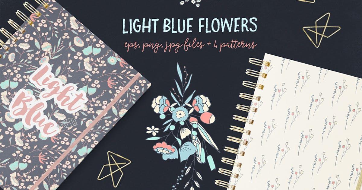 Download Light Blue Flowers by Webvilla