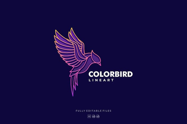 Thumbnail for Fly Bird Color Line Logo