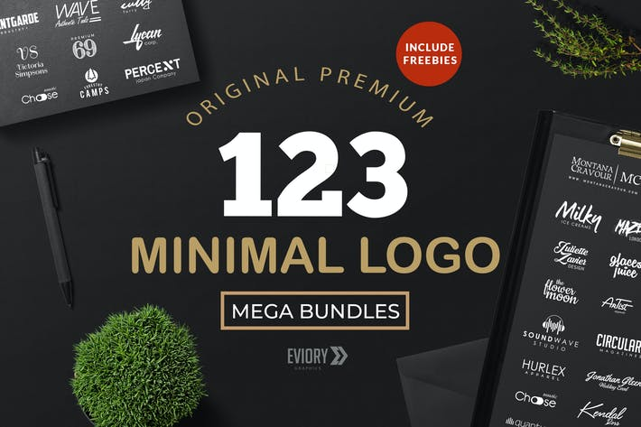 Thumbnail for 123 Minimal Logo bundle