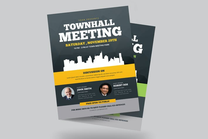 Thumbnail for Town Hall Meeting Flyer