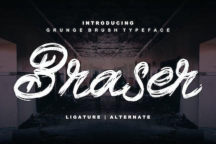 Braser   Grunge Brush Typeface