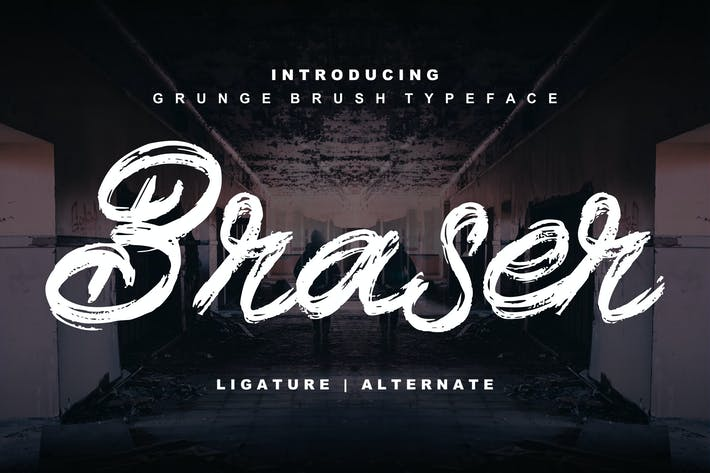 Thumbnail for Braser | Grunge Brush Typeface
