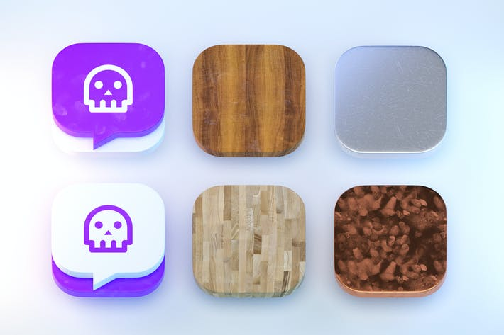 Thumbnail for 6 iOS Icon Templates