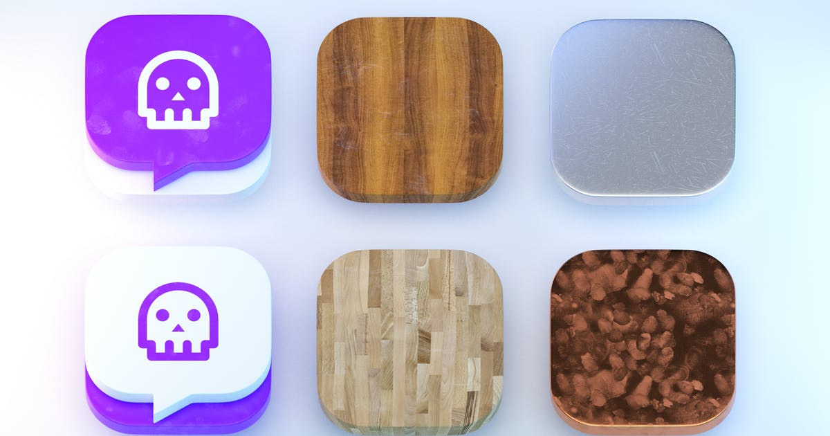 Download 6 iOS Icon Templates by cerpow