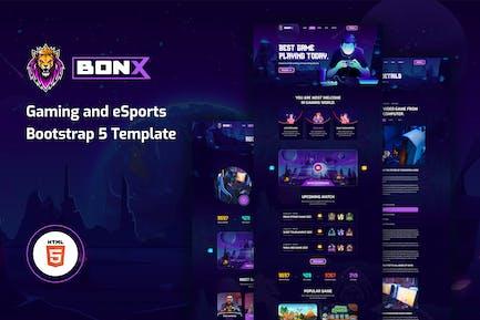 Bonx - Gaming Website Template HTML Version