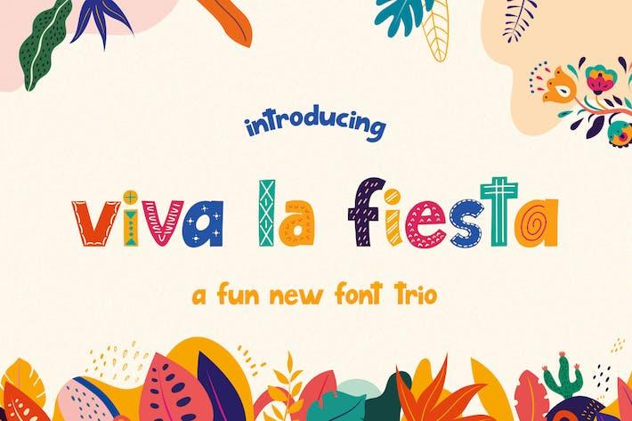 Thumbnail for Viva La Fiesta Font Trio
