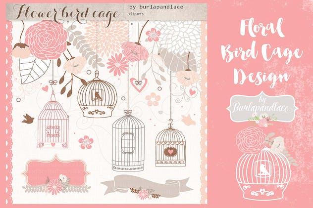 Blush floral bird cage design