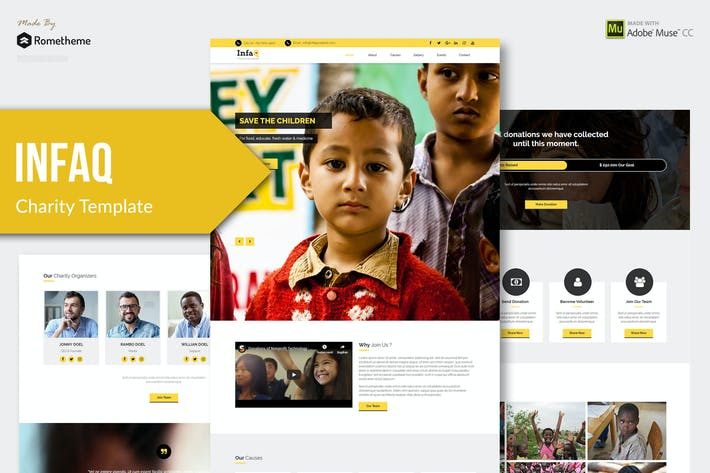 Thumbnail for Infaq - Charity, Nonprofit Muse Template YR
