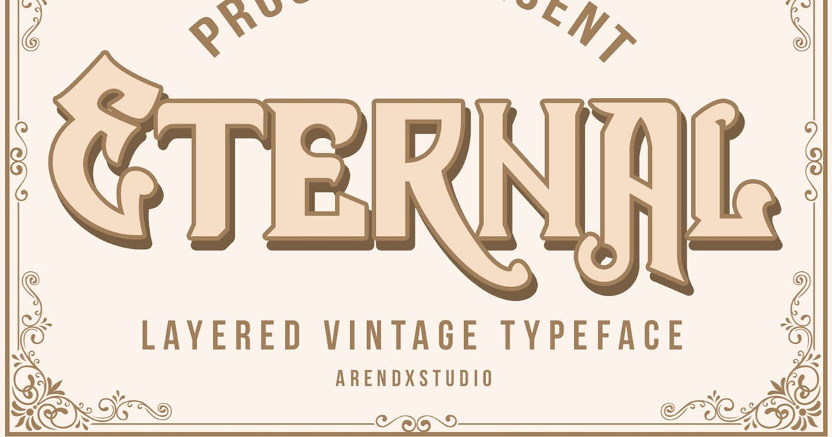 Download Eternal Layer Vintagge Typeface by arendxstudio