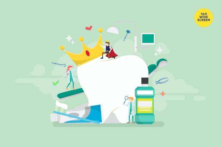 Thumbnail for Dental Crown Treatment Vector Illustration Concept