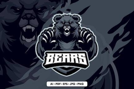 Black Bears Mascot Logo Template