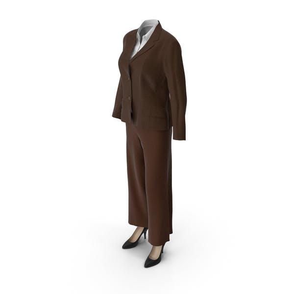 Thumbnail for Женский деловой костюм Браун