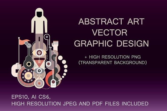Thumbnail for Abstract Art vector composition