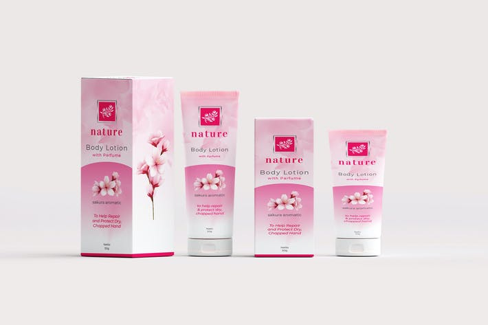 Thumbnail for Beauty Box Packaging and Tube Label Template