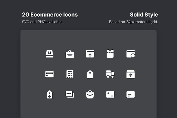 Thumbnail for Ecommerce Icons - Solid Style