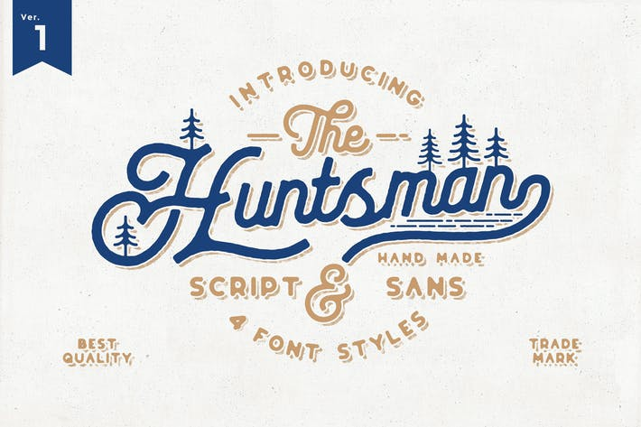 Thumbnail for The Huntsman Script Vintage Typeface Ver.1
