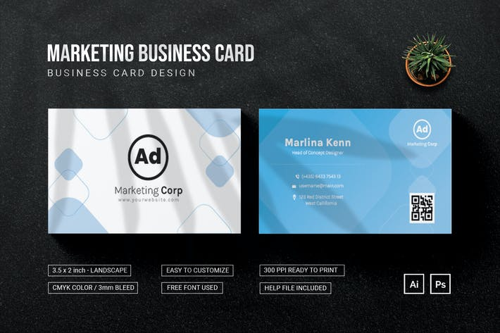 Marketing Corp - Bussiness Card